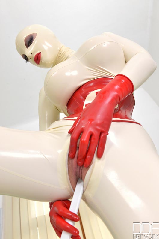 Latex Lucy Naked Erotic For Wooinglatex Gets Taken Out Of Her Box And Tubepornstars 1