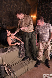 Veronica Avluv in 'Military Action in Her Back Section'