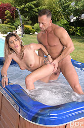Viviania in 'Sizzling Summer Sex in the Jacuzzi'