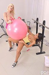 Nathaly Cherie in 'Tits Over Training'