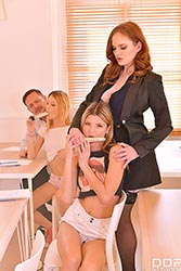 Gina in 'Orgy in the Classroom'