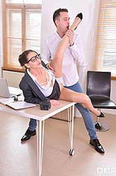 Sybil in 'XXXtra Horny During Office Hours'